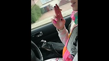 Michelle Moist Smoking While Driving