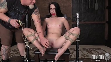 Teen BDSM - Babmi Black - Helplessness of the Ropes 2