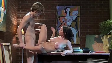 Busty Brandy Aniston gets rough sex on the desk