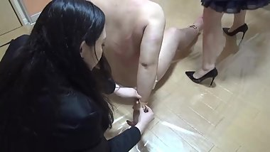 Japanese femdom Nana's store manager confinement diary