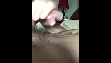 JERKING OFF @ HOME: UNCUT THICK DICK, PRECUM, CUMSHOT, ORGASM, VIDEO 9 of 9