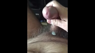 JERKING OFF @ HOME: UNCUT THICK DICK, PRECUM, CUMSHOT, ORGASM, VIDEO 3 of 9