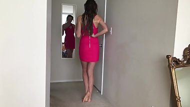 Taking Off Her Red Dress