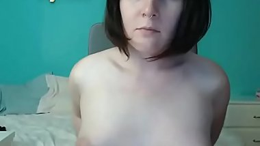 Chubby Canadian tgirl jerking off