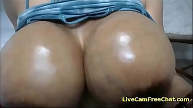 Black Stepmom Oiling Big Tits give JOI like a Teacher with Glasses