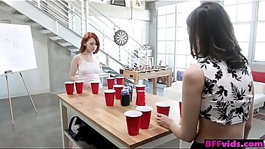 Sorority girls get drunk &amp_ fuck in a foursome