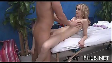 Pretty 18 year old hungarian princess gets drilled hard by her massage therapist