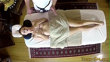 Cutie sucks on masseur