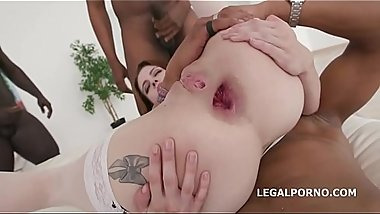Anna de Ville takes on 5BBCs with Balls Deep Anal and DAP
