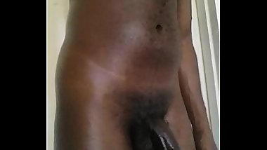 Afrikanstud Tight ass Black African Amateur Plays with juicy black cock