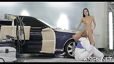 Beautys energetic shaft riding is driving hunk avid with needs