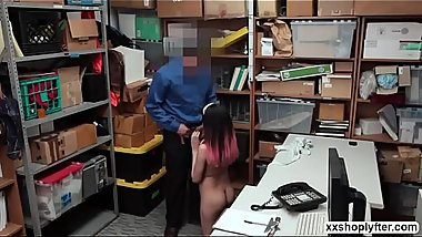 Horny Shoplifter Angel DelRey gets bang