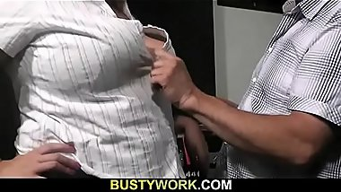 He seduces hot-looking brunette BBW