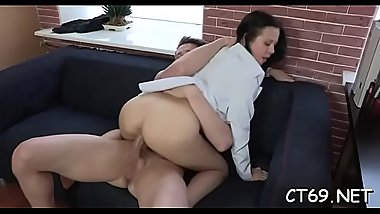 Wet playgirl exposes her wild passion during the fucking session