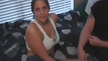 Sweet girl stands stripped and enjoys heavy couch sex