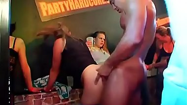Waiter fucking bitches in throat and other wholes with huge black rod