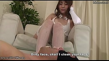 Japanese Femdom Food Crush Boots and Foot Worship
