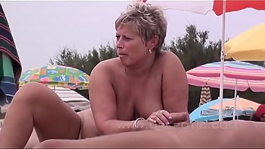 Real Filmed Sex Compilation of Couples on the Nudist Beach