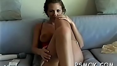 Provocative beauty playing with her pussy and whoppers