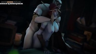 Lusty Sylvanas gets Pounded Roughly in her Tight Pussy from the back cartoon 3d porn games