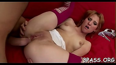 2 cute chicks lick pussies and play with large dildo