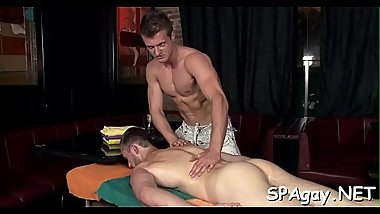 Homo gives admirable blowjob for horny dude