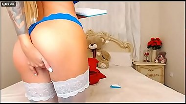 hot bubble butt blonde DevilsMarie in livejamsin