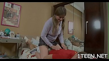 Engulfing dude'_s male rod makes girl hungry for plowing