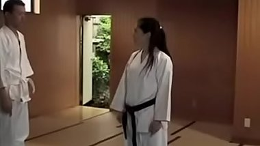 Female judo coach get fucked by lewd male trainee in training - Pt.2 On HdMilfCam.com