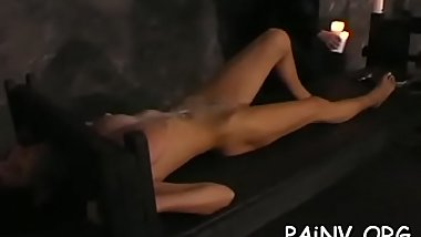 Slut that craves pang gets totally tied up and tortured