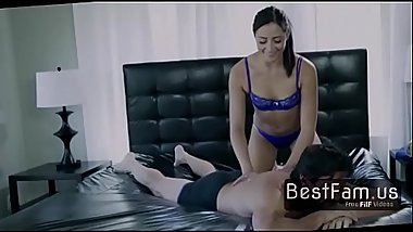 Daughter do hot massage to stepdad! - FREE FAMILY SEX videos at BESTFAM.US