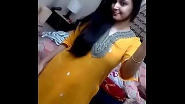 Hot beautiful big boobs Indian lady naked selfie 69