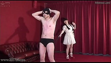 Japanese CFNM Femdom Cock Whipping