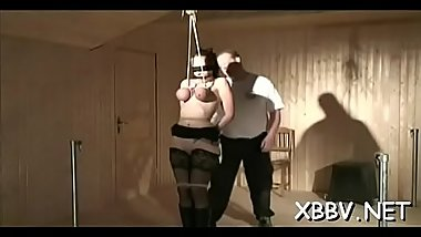 Rough scenes of tits castigation with woman obedient in bdsm scenes