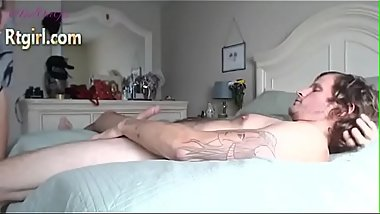 Shemale milf and her horny man sucking each others cocks