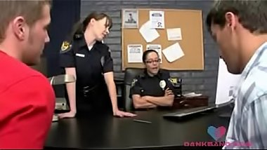 Good cop, bad cop - 2 police women getting fucked