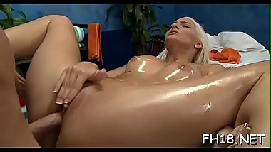 Angel fucked after sensual massage given by jake