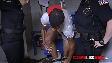 Milf cops catch handsome criminal and take him to a random room