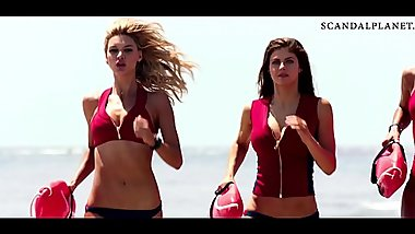 Alexandra Daddario Boobs Bouncing with Kelly Rohrbach &amp_ Ilfenesh Hadera in '_Baywatch'_ on ScandalPlanetCom
