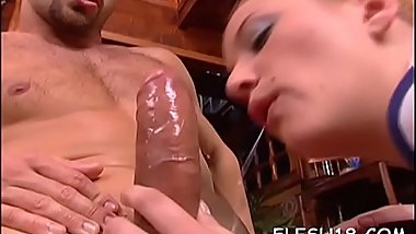 Dirty threesome to grant dilettante blonde a outstanding time