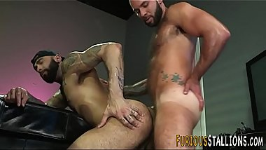 Muscular stud gets facial