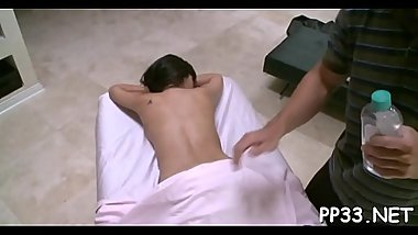 Legal age teenager massage movie scene