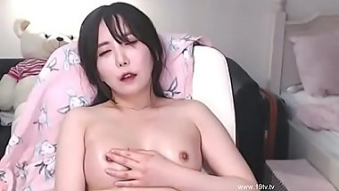 Horny Asian oiled masturbation - video link for more