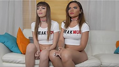 Alex Blake and Naudi Nala Interview before double blowjob scene