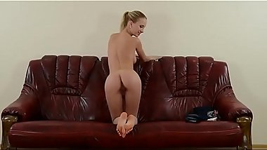 Natali Nemtchinova spread her ass and pussy at casting