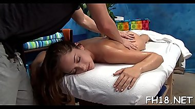 Naughty sweetheart bonks and gives a hot massage!