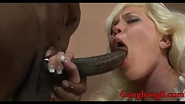 Blonde babe anal fucked by black boners