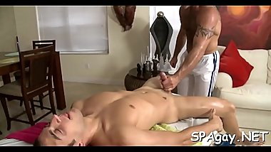 Delightsome guy is delighting twink with wild blowjobs