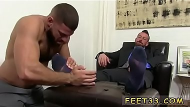 Gay blowjob between legs Hugh Hunter Worshiped Until He Cums